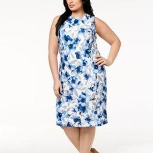 NEW Calvin Klein Dress Plus Size 24W Floral-Print